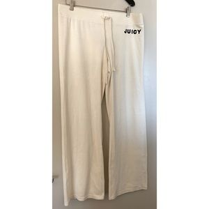 NWT Juicy Couture | Cream Wide Leg Velour Pant, XL